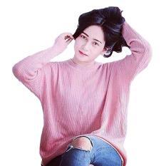 Harga Dections Atasan Wanita Rajut Loose Sweater Pink Lengkap