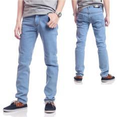Diskon Dections Celana Jeans Panjang Pria Biru Muda Branded