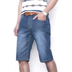 Toko Dections Celana Jeans Pendek Pria Masakini Biru Wash Terlengkap