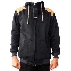 Dections Jaket Sweater Fleece Elbow Hitam Terbaru