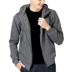 Jual Dections Jaket Sweater Polos Hoodie Zipper Abu Misty Tua Branded Original