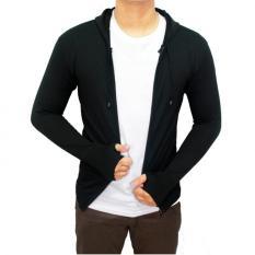DEcTionS Sweater Rajut Ariel Knite Hoodie - Hitam - Bestseller