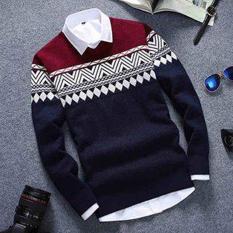 DEcTionS Sweater Rajut Columbus Navy