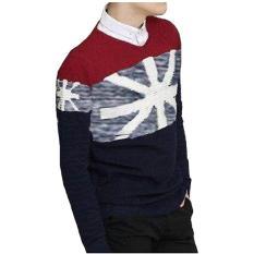 DEcTionS Sweater Rajut Pria England White Tribal
