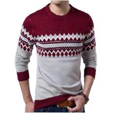 Spesifikasi Dections Sweater Rajut Pria Michael Maroon Terbaru