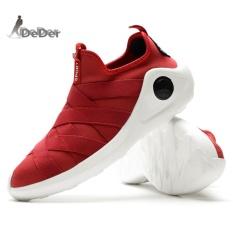 DeDer Pria Berlari Sepatu Mesh Breathable Olahraga Outdoor Jogging Sneakers Lelaki Berjalan Kasut-I