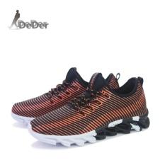 Review Toko Deder Pria Berlari Sepatu Mesh Breathable Olahraga Outdoor Larege Ukuran Jogging Sneakers Lelaki Berjalan Kasut Intl Online