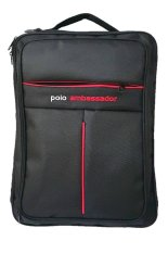 Jual Deerde Ransel Laptop Polo Ambassador Hitam Indonesia