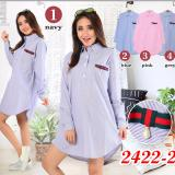 Harga Dekaco Baju Atasan Tunic Muslim Cantik Elegan 2422 2 Pink Dekaco Original