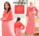 Diskon Dekaco Gamis Muslim Spandek Simpel Cantik Dk002 Orange Dekaco
