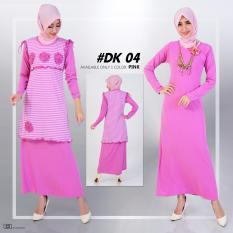 DeKaCo Gamis Muslim Spandek Simpel Cantik DK004 Pink