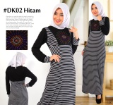 Jual Dekaco Gamis Muslim Spandek Simpel Elegan Dk002 Hitam Online