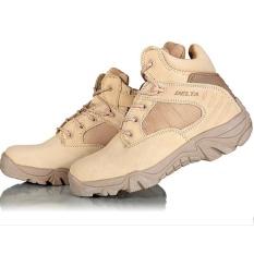 Delta Sepatu Army Tracking Shoes Tactical Pendek - Brown