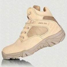 Jual Cepat Delta Sepatu Army Tracking Shoes Tactical Pendek Coklat