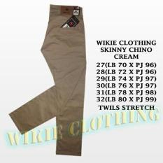 Denai Store - Celana Panjang Chino/Chinos/Cino Pria/Cowok - Krem(Cream)/Abu(Grey)/Hitam(Black) Murah UK 27-32