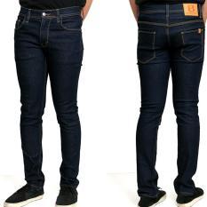 Jual Beli Online Celana Jeans Skinny Pria Biru Dongker