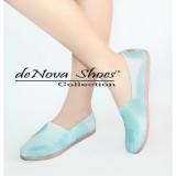 Obral Denova Sepatu Wanita Flat Shoes Slip On Kanvas Dv 005 Murah