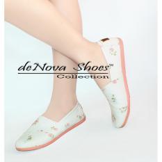 Review Toko Denova Sepatu Wanita Flat Shoes Slip On Kanvas Dv 006