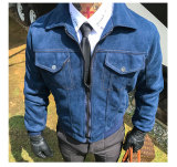 Derek Beludru Kulit Rusa Orang Dewasa Model Sama Asli Jaket Biru Jaket Pria Jaket Kulit Pria Murah