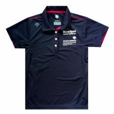 DESCENTE Women's Polo shirt SUNSCREEN Polo DAT-4621 Navy - Kaos Polo Sport Wanita