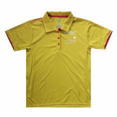 DESCENTE Women's Polo shirt SUNSCREEN Polo DAT-4621 Yellow - Kaos Polo Sport Wanita