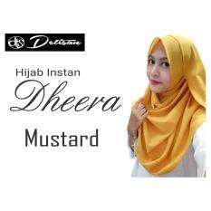 Review Detisan Hijab Instan Dheera Mustard