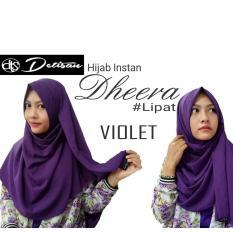 Beli Detisan Hijab Instan Dherra Violet Yang Bagus