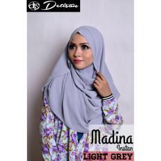 Toko Detisan Hijab Instan Madina Light Grey Abu Abu Termurah Jawa Barat
