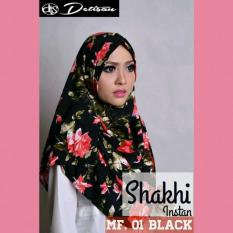 Review Detisan Hijab Instan Motif Flower Shakhi Black Di Indonesia