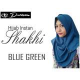 Situs Review Detisan Hijab Instan Shakhi Blue Green