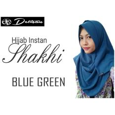Jual Beli Detisan Hijab Instan Shakhi Blue Green