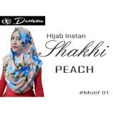 Dimana Beli Detisan Hijab Instan Shakhi Motif Flower Peach Detisan