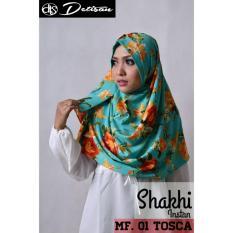 Daftar Harga Detisan Hijab Instan Shakhi Motif Flower Tosca Detisan