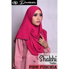Harga Detisan Hijab Instan Shakhi Pink Fushcia Yang Murah Dan Bagus