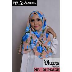 Diskon Detsan Hijab Instan Dheera Motif Flower Peach Detisan