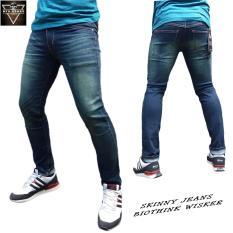 Jual Dfs 15Denim Celana Jeans Skinny Slimfit Pensil Pria Biothink Wisker Dfs Asli