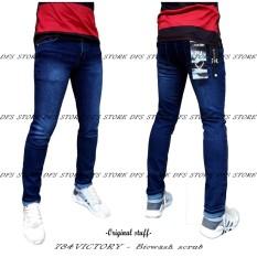 DFS-784 VICTORY DENIM Celana jeans denim skinny / slimfit / pensil pria – BIOWASH SCRUB