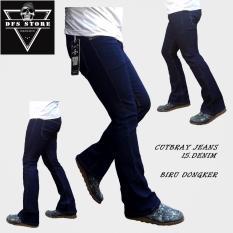 Harga Dfs Celana Jeans Denim Cutbray Rpia Biru Dongker Online