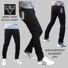 Spesifikasi Dfs Celana Jeans Denim Skinny Slimfit Pensil Pria Hitam Naomi Dan Harganya