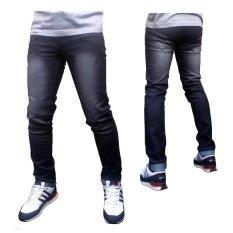 DFS Celana jeans skinny / slimfit / pensil pria - Black Grey Scrub