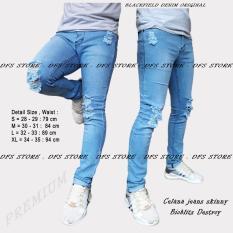Diskon Besardfs Celana Jeans Skinny Slimfit Pensil Pria Destroy Bioblits Scrub