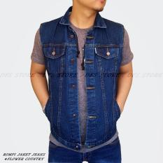 Jual Beli Dfs Fw Jaket Rompi Jeans Pria Biowash Baru Jawa Barat