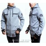 Obral Dfs Rebel Id Hoodie Zipper Jaket Jumper Sweater Rpia Grey Twoton Murah