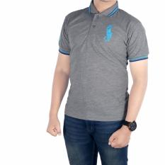 Jual Dgm Fashion1 Kaos Polo Pria Poloshirt Men Polo Kaos Pria Kaos Polo Sanghai Polo Pria Polo Distro Polo Man T Shirt Polo Man Kaos Kerah Kp 4006 Abu Abu Dan Biru Dki Jakarta