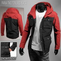 Dg S Jaket Parka Two Tone Red Black Indonesia