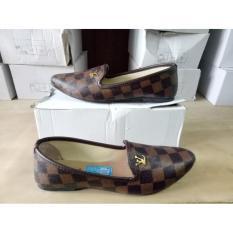 Dhala - Sepatu Flat Wanita Louis Lancip - Coklat