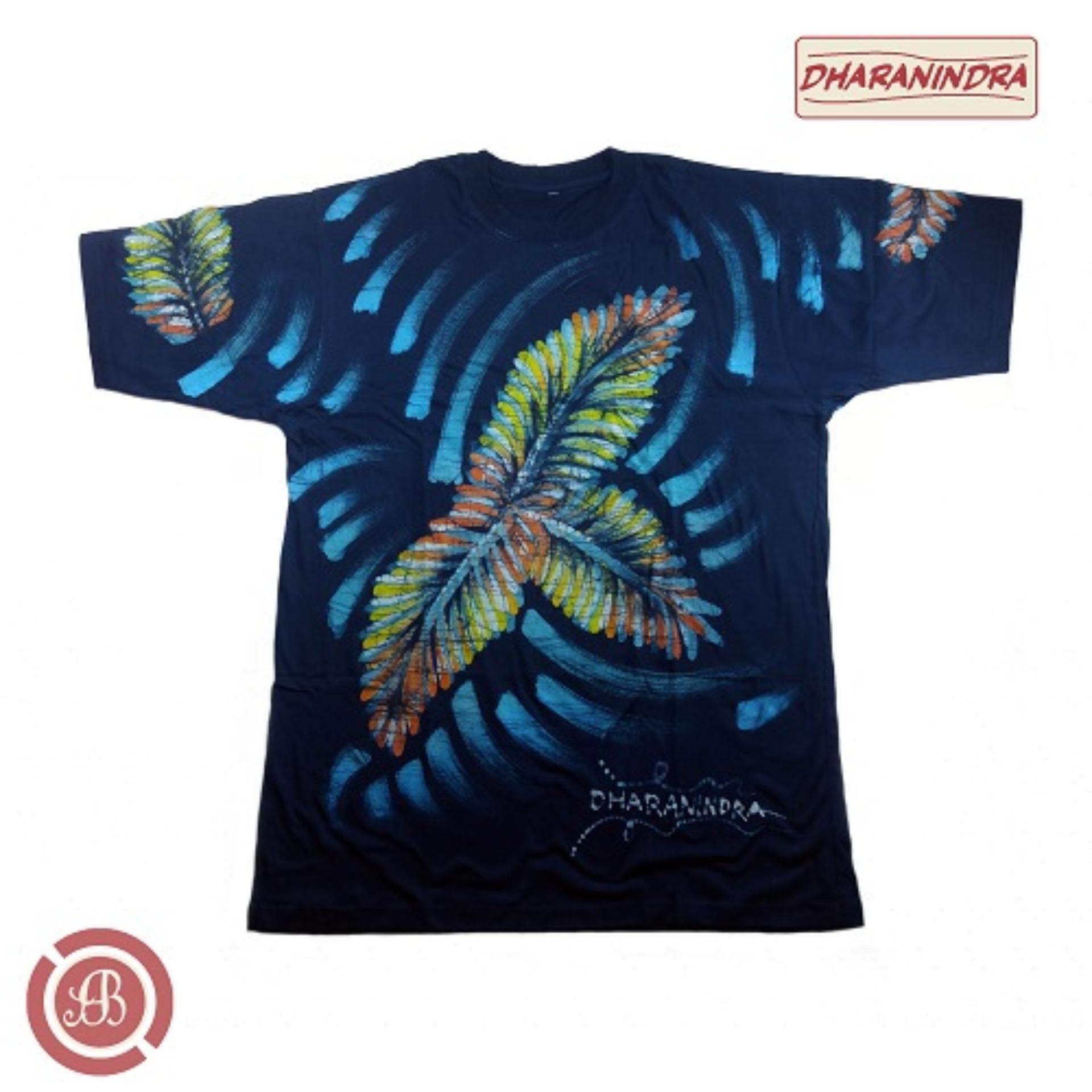 Dharanindra - [ Biru Dongker ] - Kaos Abstrak Batik Tulis Asli [ 100% Hand