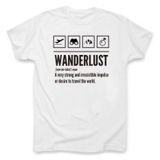 Streets Luar Rumah Roaming Perjalanan Wisata Kaos (Wanderlust Kaus Putih)