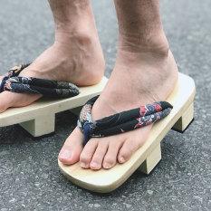 Di Mana Ni Xia Kayu Putih Gaya Jepang Sandal Jepit (Model Pria + Berwarna Warna-warni Unicorn)