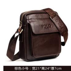Di Mana Pelanggan Paul Tren Kulit Muda Kasual Tas Ransel Tas Bahu Dengan Satu Tali Tas (99125-1 Coklat Terompet)